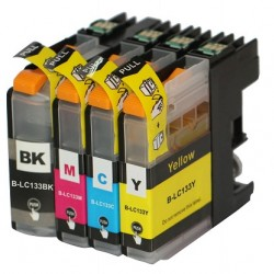 Brother LC133 ink Cartridges 2BK+C+M+Y