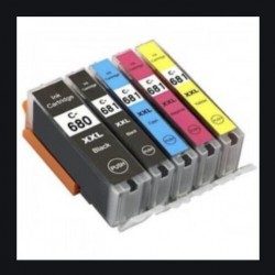 Compatible Canon PGI 680XXL CLI 681XXL Ink Cartridge 5 cartridges set Tonerink brand