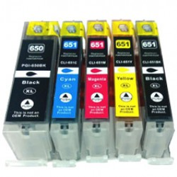 Canon CLI651 XL Ink Cartridge Compatible BK/C/M/Y