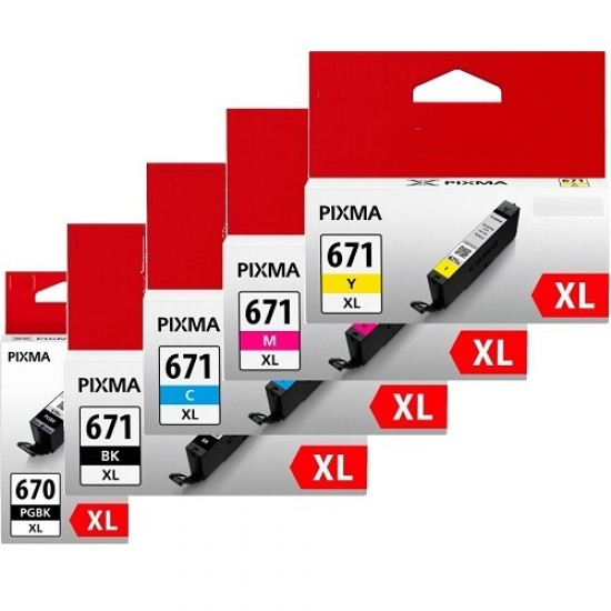 Canon PGI670XL CLI671XL Ink Cartridge Full Set (5 cartridges)