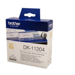 Brother DK11204 White Label - 17mm 54mm - 400 per roll
