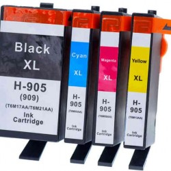 HP 905 Black / HP905XL High Yield C/M/Y Ink Cartridge