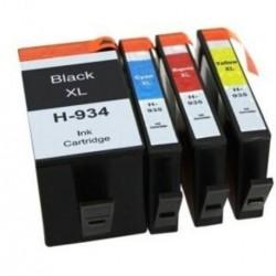 HP 934XL 935XL Black + Cyan + Magenta + Yellow Ink Cartridge Full Set