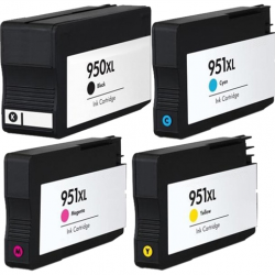 Compatible HP 950XL 951XL Ink Cartridge BK+C+M+Y Latest version chip