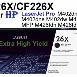 HP LaserJet Pro M402dn M426fdn Toner Cartridge 26X / CF226X Compatible