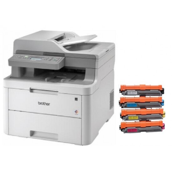 Brother DCPL3551CDW A4 18ppm Duplex Wireless Multifunction Colour Laser Printer